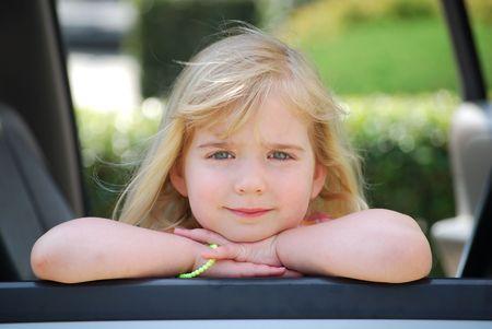 little girl smiling photo