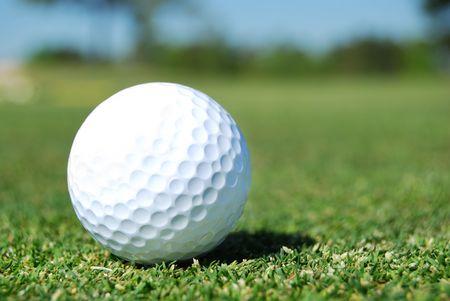 golf ball in fairway photo