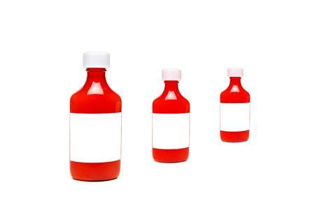 prescription bottles on white
