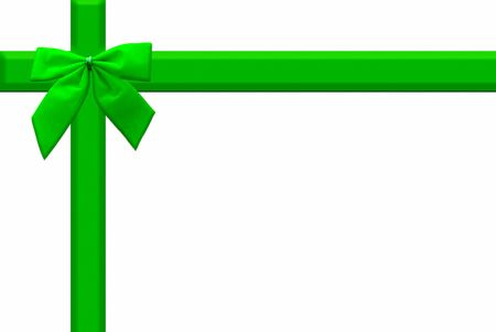 green ribbon background 写真素材