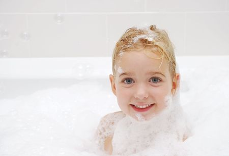 young girl bath: childhood bath