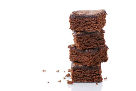 miettes: Brownies sur fond blanc