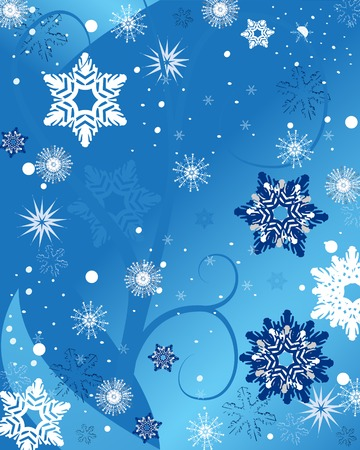 holiday background: blue snowflake background