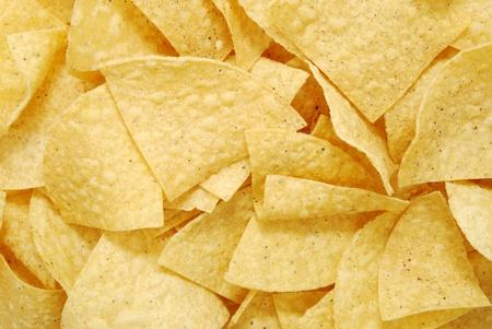 close up of tortilla chips