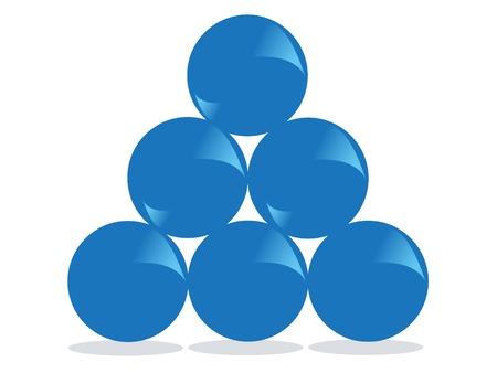 Blue balls Standard-Bild - 8873634