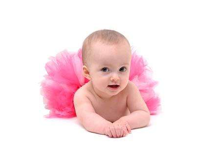 beb� con tut� Rosa Foto de archivo - 9240322