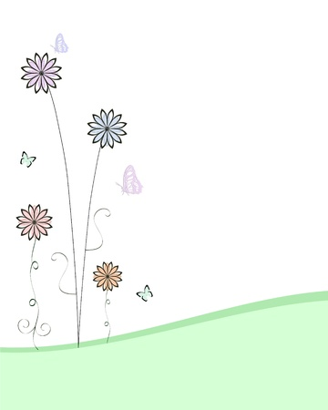 meadow of flowers Stock Vector - 9468602