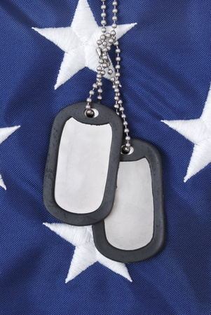dog tag: dog tags and american flag