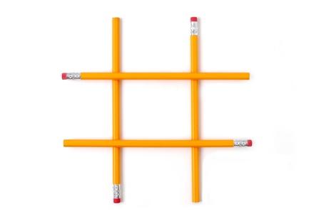pencils stacked like tic tac toe photo