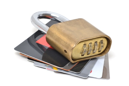 lock: concept safety credit cards and lock