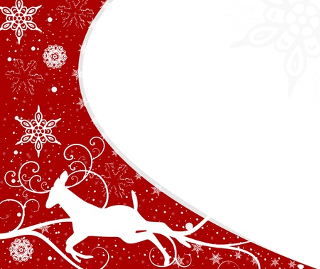 card: background christmas card snowfllakes