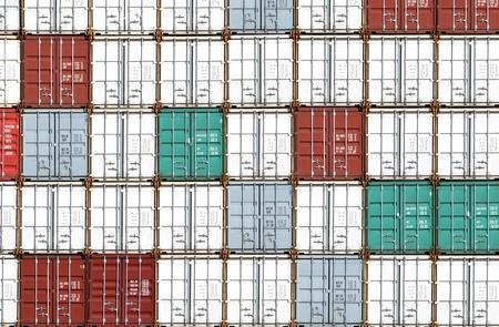 stacked cargo containers Zdjęcie Seryjne