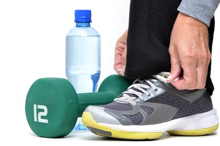 preparing for fitness workout photo