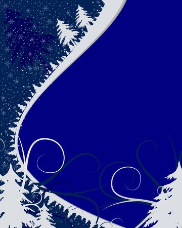 winter christmas abstract background Vector
