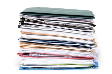 stack of paperwork and file folders Stock Photo - 12870385