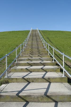 steps on a hillside