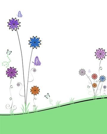springtime flowers: abstract spring garden Illustration