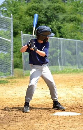 young baseball ready to bat Stock Photo