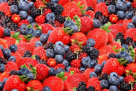 mixed berries fruit background photo