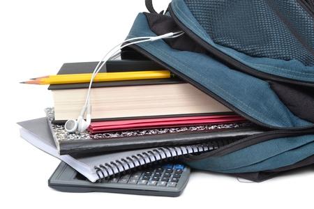 mochila escolar: mochila con útiles escolares