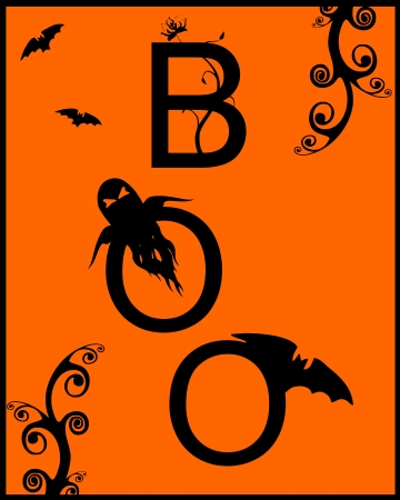 boo: scary halloween background