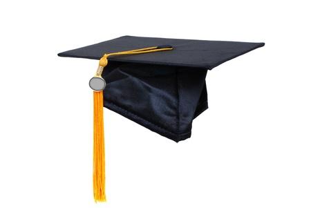 tassel: graduation cap with gold tassel