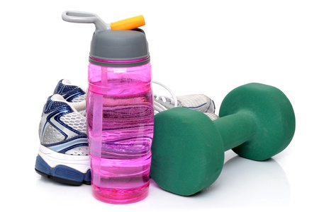 fitness objects white background
