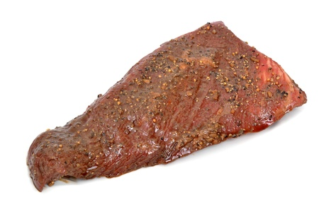 butchered: raw piece of meat white background