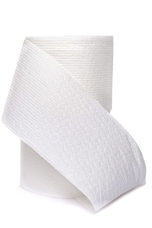 rolls of toilet paper isolated white background Stock Photo