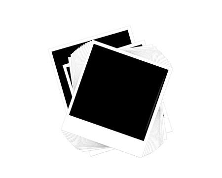 stack of blank photo paper background Stok Fotoğraf - 17140702
