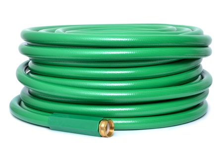 garden hose white background
