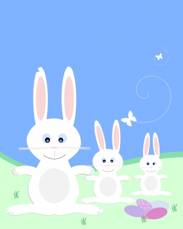 festive occasions: easter background with bunnies