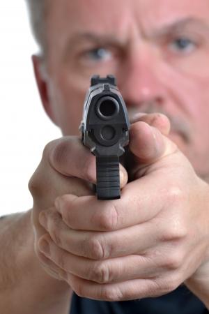 man met een pistool