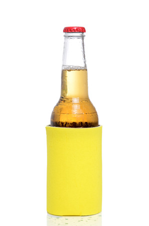 cold beer isolated white background