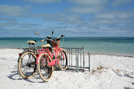 bicycles on the beach summertime fun