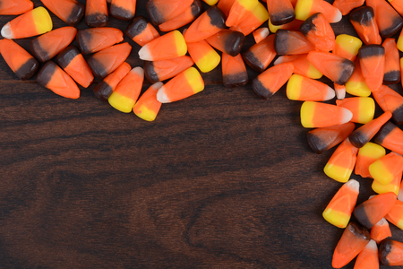 candy corn laying on table Halloween concept