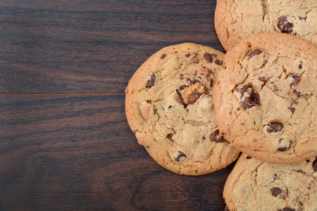 homemade chocolate chip cookies on table