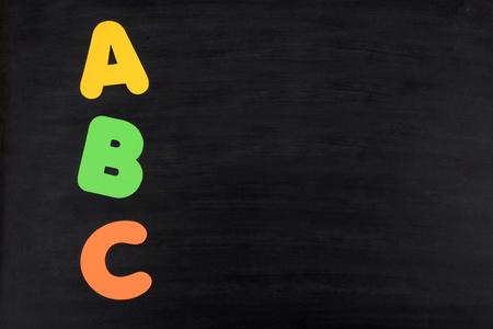 blackboard with letters abc educational background  Zdjęcie Seryjne