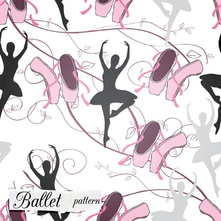 classical dancer: seamless pattern can be used for wallpaper, website background, textile printing Illustration