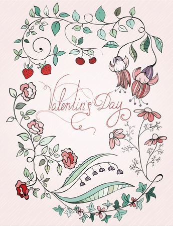 st valentin: St valentin design card Vector illustration can be used for website background and greeting cards or cover decoration