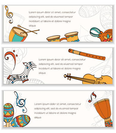 latino: Latino banner. Frame of latino musical instruments. Latino banner can be used as invitation card for wedding, birthday and other holiday and musical background. Vector illustration. Illustration