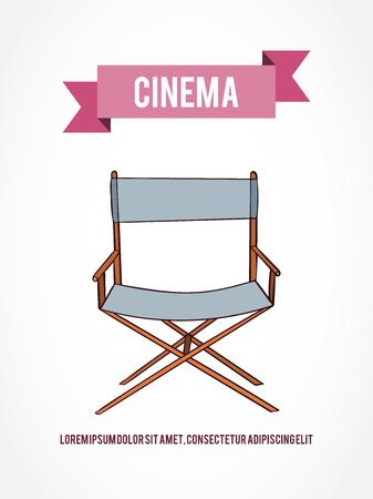 Hand drawn vector cinema camera card which can be used for movie hand drawn vector chair card which can be used for movie cards invitation or website stopboris Gallery