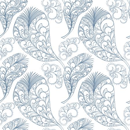 feathering: Seamless feather Illustration