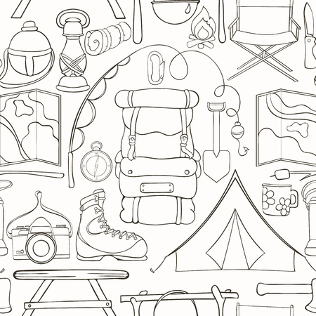 Camping Wallpaper Design
