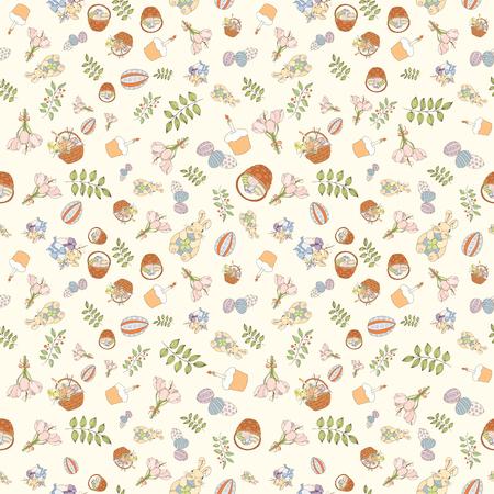 Assortment Easter seamless pattern