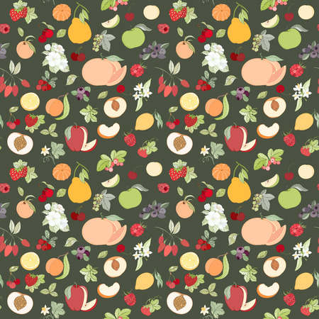 red currant: The seamless fruit pattern