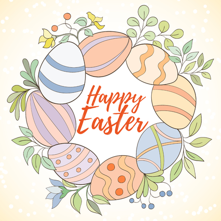 Happy Easter card Illustration