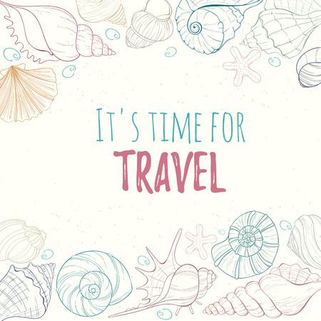 coastal: Summer paradise holiday marine card
