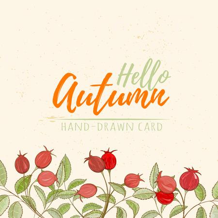 Autumn hand drawn vector illustration Stock Photo