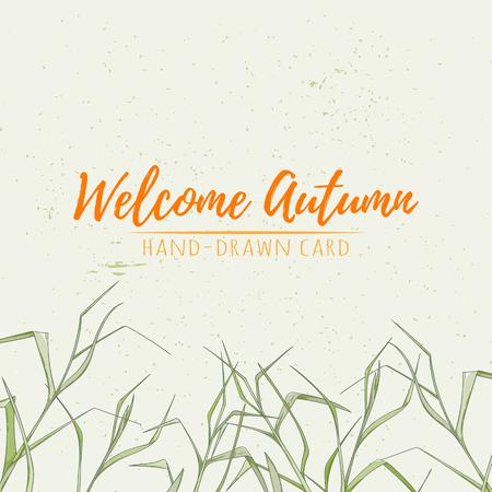 Autumn hand drawn vector illustration Stockfoto